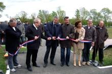 Inauguration Pisteavec les élus 2011